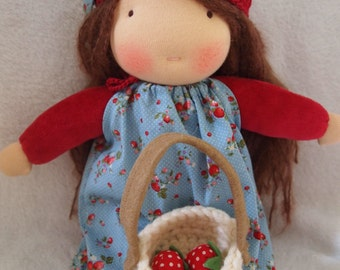 Angie Handmade Waldorf Doll 30cm (12in),cloth doll, ragdoll
