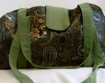 Pet Carrier - Wuji Brocade Olive Paisley