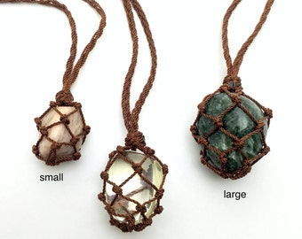 WHOLESALE - 8 Pieces Empty Macrame Necklace, Interchangeable Stone Necklace, Nylon or Hemp Necklace, Adjustable Length