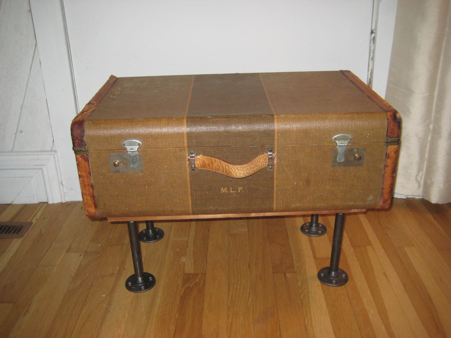 Vintage Suitcase Coffee Table Upcycled 20s 30s Luggage