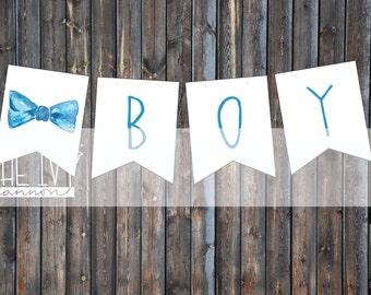 It's a Boy Bowtie Printable Banner