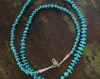 Turquoise and Sterling Silver Vintage Necklace