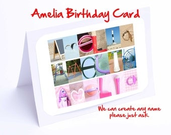 Amelia Personalised Birthday Card