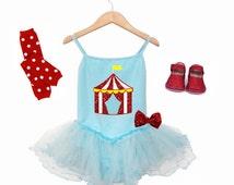 Girls Circus Birthday Outfit,  Birthday Tutu Dress, Circus Birthday Shirt, Circus Theme Birthday
