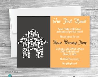 House Warming Invitation - Cute House Warming Invitation - House Warming Party - Invitations - Printable Invitations
