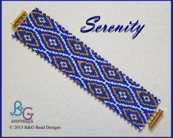 SERENITY Peyote Cuff Bracelet Pattern