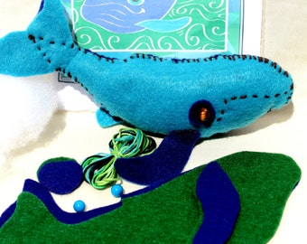 DIY Make your own whale kit; Whale toy; Childrens craft DIY