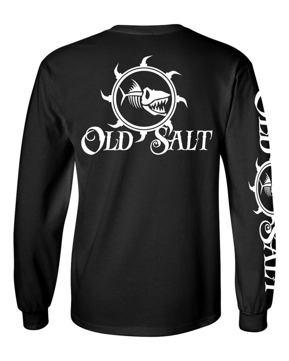 Old salt brand saltwater fishing surfing diving beach ocean t for Old salt fishing