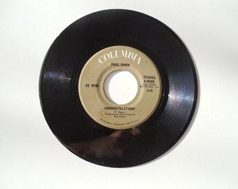 Paul Simon Vintage 45 Record