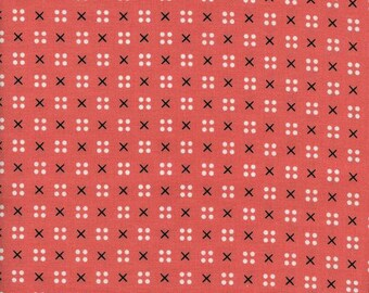 Cotton & Steel Fabric, Penny Arcade X Dot Pink, Modern Quilting, Fabric by the Yard, Designed by Kimberly Kight, XOXO