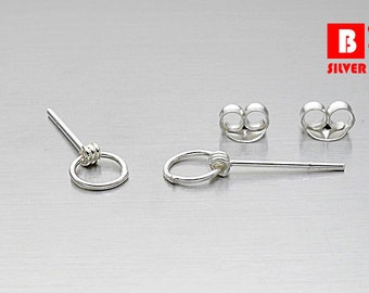 925 Sterling Silver Earrings, Stud Earrings (Code : K36C)