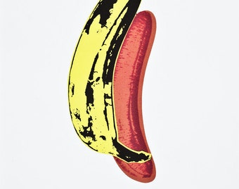 ANDY WARHOL - 'Banana' - limited edition vintage lithograph - c1986 (CMOA official stamp)