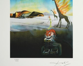 SALVADOR DALI - 'Dreams of Venus' - large hand numbered vintage lithograph - c1988 (limited edition. Atelier Jobin, Paris)