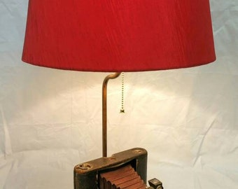 Antique Kodak Camera Lamp