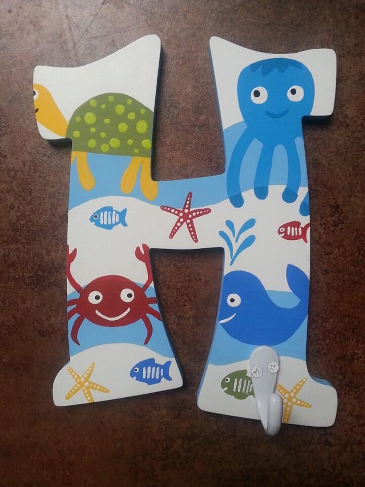 Ocean Bathroom Hooks Letter Hooks Towel Hooks Bathroom