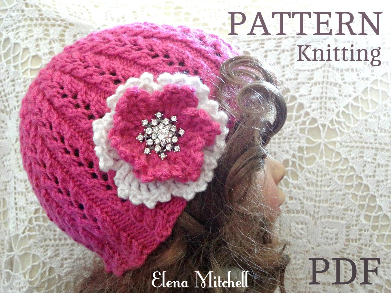 Women s Beanie Knitting Pattern : Knitting PATTERN Girls Beanie Women Hat Children Hat Knit