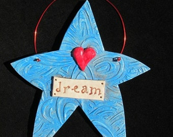 Stoneware Dream Word Star Wall Hanging