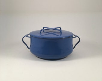 Retro Dansk Blue Enamel Dutch Oven Pot