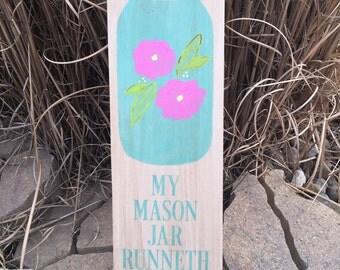 Mason Jar Wood Sign