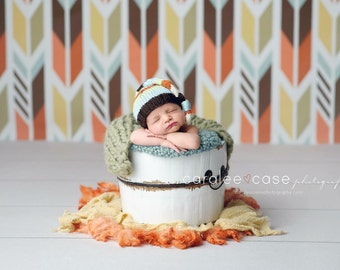 Edgar Newborn Long Tailed Sleepy Cap