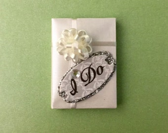 """Beautiful little wedding gift package that says """"I DO"""""""