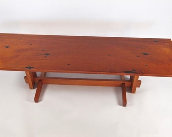Wooden Coffee Table, Modern Coffee Table, Natural Wood Table, Cocktail Table,  Fine