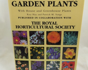 Garden Plants, Royal Horticultural Society, House Plants, Greenhouse Plants, Garden Book, Gardener Gift, Garden Lover Gift, Flower Book