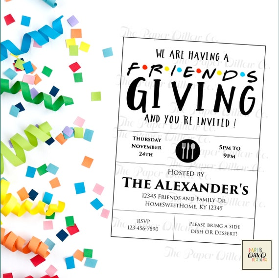 Friends giving printable invitation thanksgiving holiday party il570xn solutioingenieria Image collections