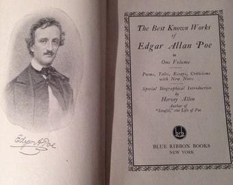 1927 edgar allan poe , best known works