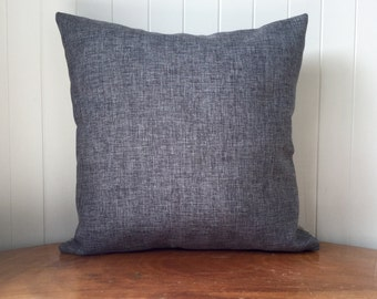 "Industrial Beige Drifwood  + Metal Grey Upholstery 45cm x 45cm - 18"" x 18""  Cushion/ Pillow / Square Cover - Beachhouse - Vintage"