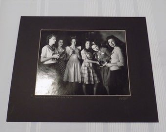 Vintage 1942 Signed A.E. Woolley Photograph 16x20