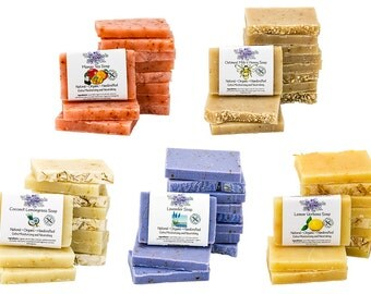 100 Handmade Natural B&B Guest Amenity Soap Bars, Case of 100