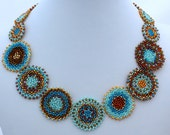 Serenity Mandala Necklace Pattern and Tutorial