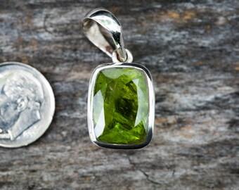 Peridot Pendant - Peridot Neckace - Peridot and Sterling Silver Pendant - August Birthstone - Natural Peridot - Peridot jewelry - Natural