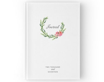 Best Year Ever 2017 Journal, Christmas Gift Ideas, Diary 2017, Floral Journal Diary, 2017 Diary, Inspirational Journal