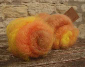 Cotswold Colours - Autumn - Hand Dyed And Carded Batts - for Spinning or Felting