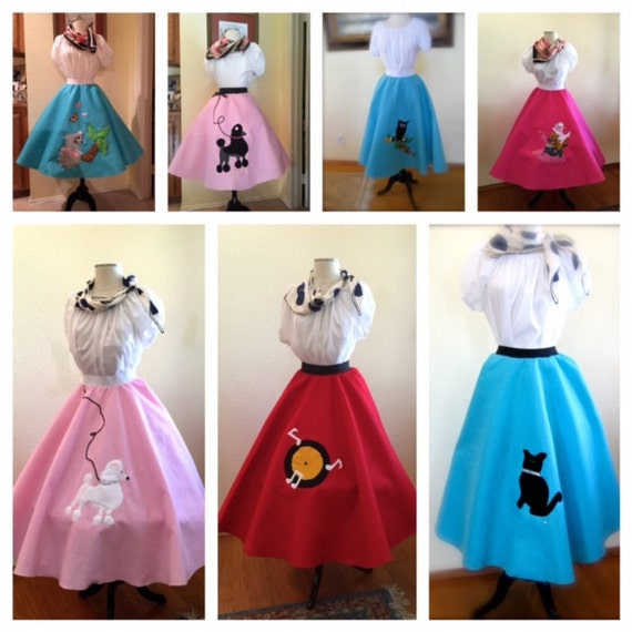 Vintage Inspired Halloween Costumes Custom  Poodle Skirts $54.00 AT vintagedancer.com