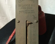 Antique Brass Chatillon's Scale // No 2 New York // 50lbs
