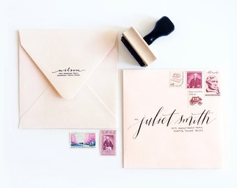 Calligraphy Address Stamp