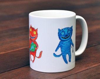 Funny 3 Cats Mug - 3 Cats -  Gift - Mug - Cat - Cats Mug
