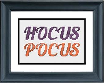 Hocus Pocus - Halloween Cross Stitch Pattern - PDF Cross-Stitch Pattern