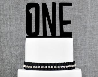 First Birthday Cake Topper, Turning One Cake Topper, Children's Birthday, One Year Anniversary Cake Topper - (T305)