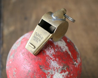 Playfair Brass Whistle Made in India Old Sport Game Whistle Playing Field