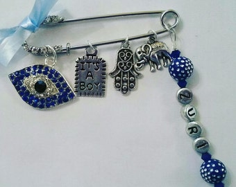 Baby accessories, evil eye pin, stroller pin