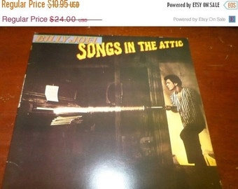 Save 30% Today Vintage 1981 LP Record Billy Joel  Songs in the Attic Columbia Records TC-37461 Excellent Condition 5271