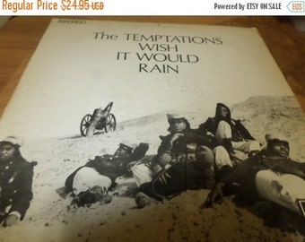 Save 70% Today Vintage 1968 Vinyl LP Record The Temptations Wish It Would Rain Very Good Condition Gordy Records GS-927