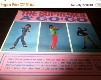 Save 70% Today Vintage 1966 Vinyl LP Record The Supremes A' Go Go Excellent Condition Motown Records