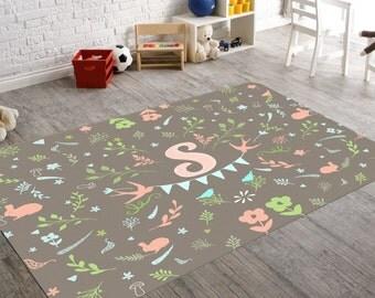 Area Rug, Rugs 3X5, Monogram Rug, Kids Rugs, Rugs For Nursery,