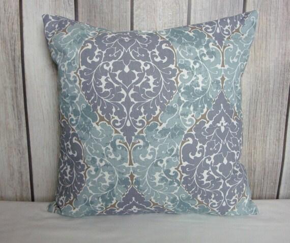 Throw Pillow. Pillow Cover. Amethyst Pillow. Blue Grey Pillow. Grey Lavender Pillow