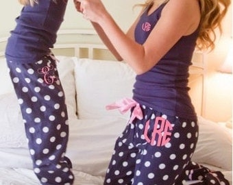 Mommy and Me Matching Pajama Pants and tank